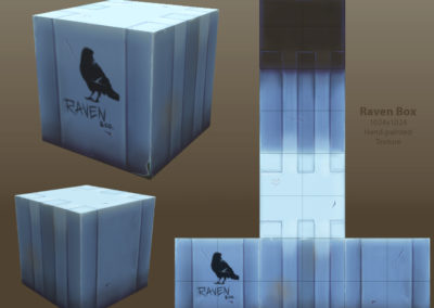 Raven Box low-poly cube + texture